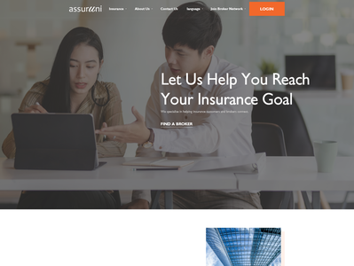 An attractive insurance site web page insurance professional modern simple minimalist clean