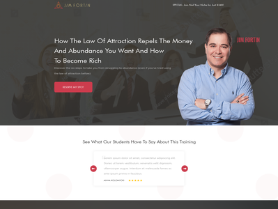 Design a modern, spiritual and vibrant landing page that coverts landing page coach consulting business simple minimalist clean