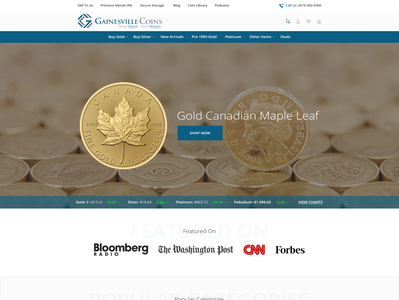 Create a Fun and Exciting Landing Page For a Gold Company coins retail simple minimalist clean