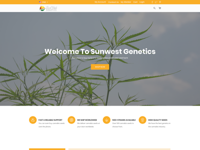 Modern Ecommerce Website Redesign web page modern simple minimalist clean cannabis ecommerce