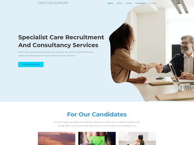 A full rebranding for a local recruitment agency. web page modern simple minimalist clean recruitment branding consulting business