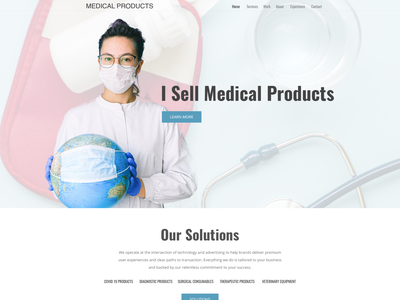 Medical products provider web page simple minimalist clean medicalsupplies medical