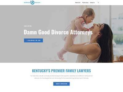 Homepage header section design landingpage web page simple minimalist clean familylaw attroney