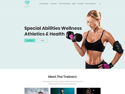 Fitness Website with a Purpose landingpage modern simple minimalist clean app onlinefitness physicalfitness