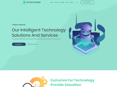 Website Design for an emerging AI based technology start-up web page modern minimalist clean artificial intelligence technology