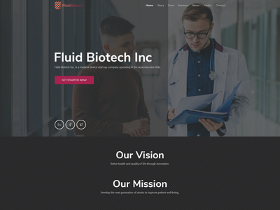 Design a web page for a ground-breaking brain medical technology web page professional simple minimalist clean medicalequipment medical