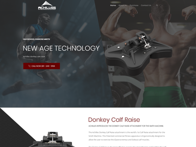 Donkey Calf Raise Attachment Website web page modern simple minimalist clean fitnessequipment physicalfitness