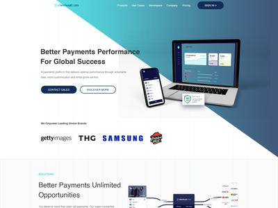 Design Payments Gateway Service Similar to Stripe web page modern minimalist clean onlinepayments technology