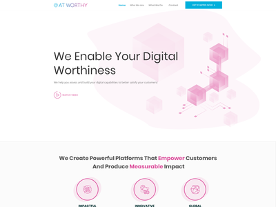 Website for paid rating system web page modern simple minimalist clean internetsolutions internet