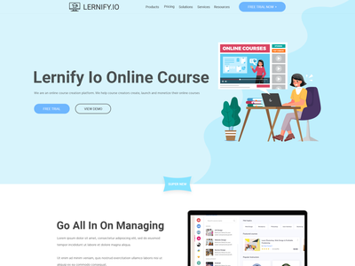 We need an awesome new design for our webiste. web page modern simple minimalist clean courseplatform onlineplatform onlinecourse education