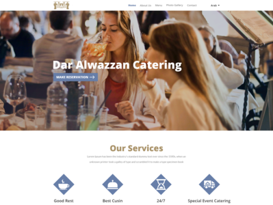 Design a website for a restaurant and catering