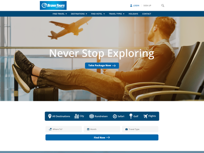 New web design for Tour Operator (travel industry)