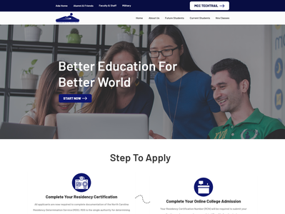 Community College Home Page Redesign with Excellent Design Brief