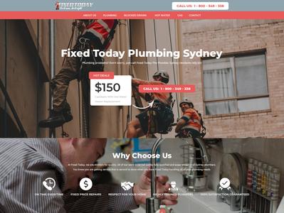Fixed Today Plumbing Website Redesign