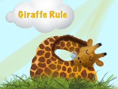 Giraffe ipadpro ipad procreate character illustration 3d