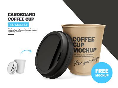 Cardboard Coffee Cup FREE PSD Mockup cap drink mug freebie psd photoshop psd mockup coffee cup coffee cardboard freebie free