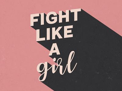 Inspiring Vintage Girl Power Quote Print - Illustration digital art pink positive photoshop illustration wall decoration print quote poster girl power vintage inspiring