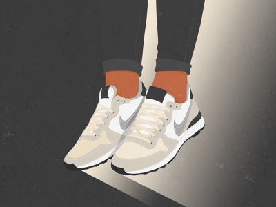 Beige Girl Sneakers Illustration frame art print poster wall art photoshop art digtal illustration legs sport shoes nike sneakers girl beige