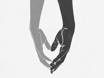 Love The Difference - Hands Illustration holding touching fingers hand gift card decoration wall frame art poster print digital art photoshop illustration different unite difference relationship friendship couple love