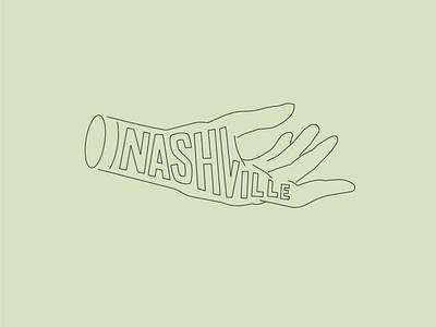 Nashville Helping Hand nashville vector illustration hand letter hand lettering lettering typography type