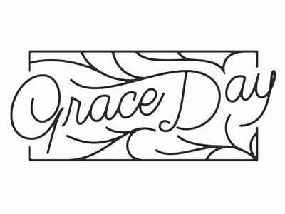 Grace Day Lockup monoline script life hand lettering hand drawn typography type lettering values lockup wisdom letter