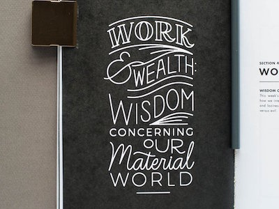 Proverbs Study Lockups monoline script life hand lettering hand drawn typography type lettering values lockup wisdom letter