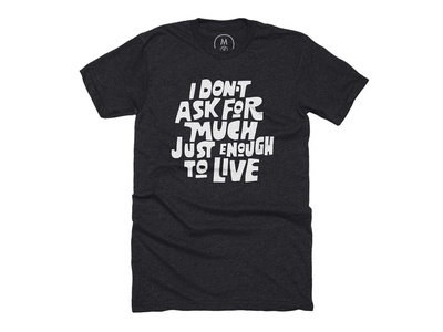 To Live Tee vector script typography type lettering letter black lives matter hand lettering hand drawn hand cotton bureau matter