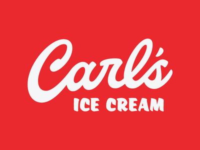 Carl's ice cream normal illinois vector script typography type lettering letter hand lettering hand drawn carls