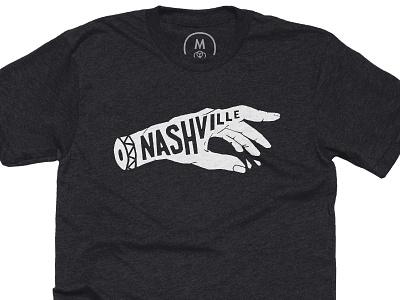 Nashville Hand Tee tee shirt tshirt city blood lockup illustration type lettering hand cotton bureau nashville