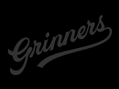 Grinners hand type hand drawn grin baseball script vector letter hand lettering lettering typography type