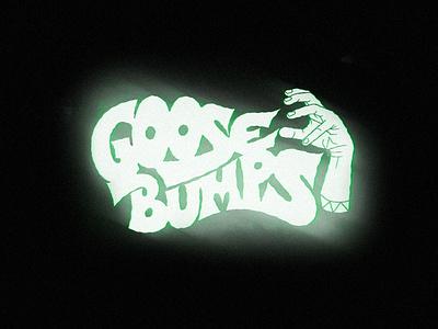 Goosebumps illustration death hand hand type hand drawn letter hand lettering lettering typography type