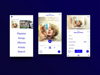 Daily UI - 009 - Music Player (1/3) music player app music app daily ui mobile app design minimal clean dailyui