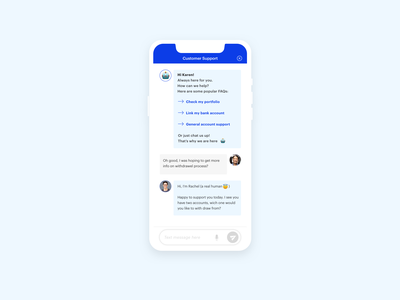 Daily UI - 013 - Direct Messaging (2/2) mobile design direct messaging customer service chatbot chat mobile webdesign responsive daily ui dailyui