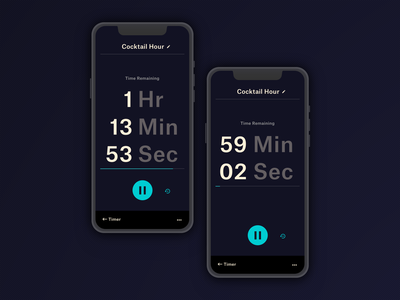 Daily UI - 014 - Countdown Timer 014 app timer app timer countdown timer countdown app design mobile minimal clean dailyui