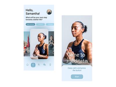 Time to meditate meditate meditation meditation app yoga yoga app sport fitness app app design design