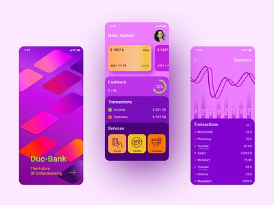 Duo Bank App banking app mobile banking e-commerce application app design design