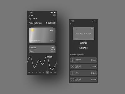 E.com night theme night theme ecommerce e-commerce design e-commerce app banking bank app mobile banking e-commerce banking app app application app design design