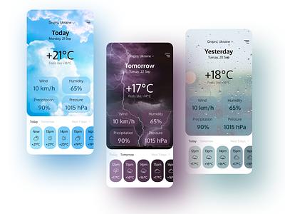 Weather app weather app weather ui application app design design