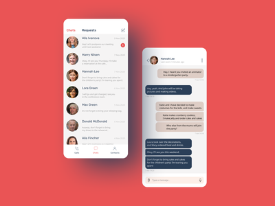 Chat Application chatbot chatting application design chat app chat messenger messaging messaging app message message app messages ui design ui  ux uidesign uiux ui app application app design design