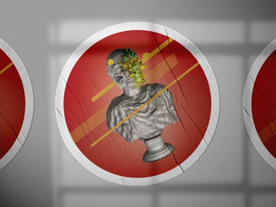 """Wall Sticker for """"TEJK OBEP"""" Festival modern departure psychedelic intensive statue lines artdirection graphicdesign graphic sticker grainy red design forms composition print design mockup illustration abstract art"""