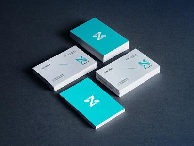 Nematx - Visit Card Design clean modern industry design mockups print design graphic design stationery mockup minimal blue elegant branding company logo composition typography visit card logotype logodesign logo