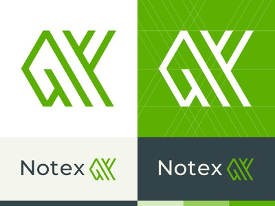 Notex - Logo Design simple logo logotype design white colorscheme identity design modern construction gray shades green lines print design branding typography vector logo art graphicdesign design composition