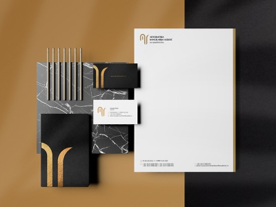 Law Office - Stationery design shadows texture black gold notebook visit cards stationery law office photoshop mockups logotype clean logo branding mockup graphicdesign print design design art composition