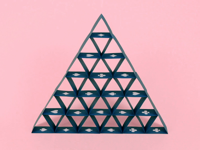 House of Cards clean simple art motion design clip video cart paper paperart handcraft blue pink trick playing card house of cards motiongraphics magic animation stopanimation