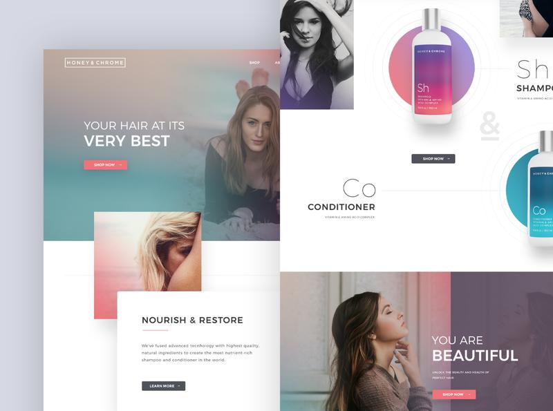 HairCare Website Design