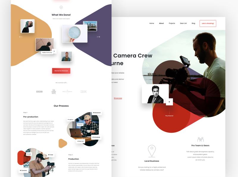 Camera Crew Website Design