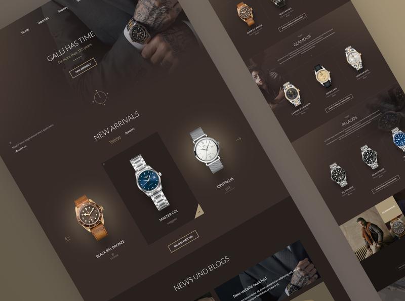 Luxurious Watches Reatiler Website Design