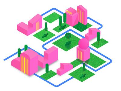 Isometric City Design app design vector ui branding illustration graphic design