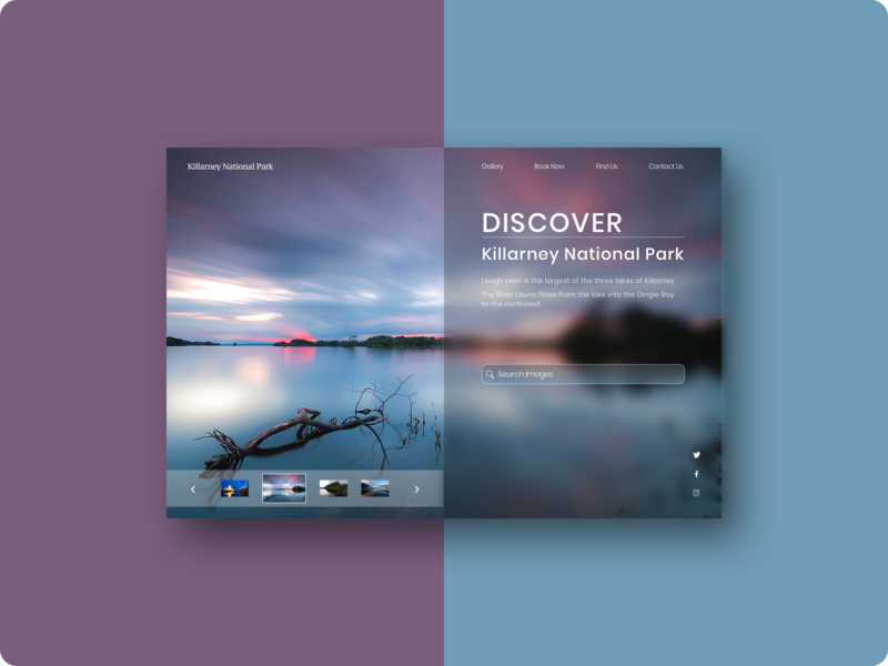 DailyUI #003 - Landing Page