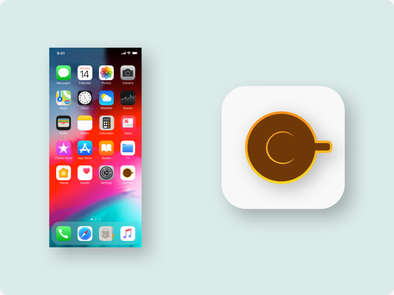 Daily UI 005 - App Icon icons logo gradient warm sunrise icon ui kit uiux ui ui 005 daily ui 005 app icon coffee cup coffee daily ui ui design daily ui challenge ui challenge